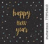 happy new year card.... | Shutterstock . vector #775914610
