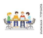 team working. young people... | Shutterstock . vector #775916056