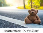 teddy bear sit on small and... | Shutterstock . vector #775919809