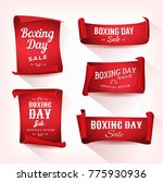 set of boxing day sale... | Shutterstock .eps vector #775930936