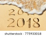 new year concept   2017 and... | Shutterstock . vector #775933018