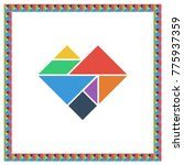 tangram brain game heart answer ...
