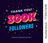300k followers card banner... | Shutterstock .eps vector #775937698