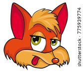 fox head. cartoon style.... | Shutterstock .eps vector #775939774