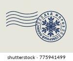 post stamp santa claus. russian ... | Shutterstock .eps vector #775941499