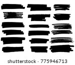 painted grunge stripes set.... | Shutterstock .eps vector #775946713