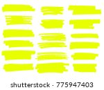 vector highlighter brush lines. ... | Shutterstock .eps vector #775947403