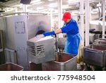 the meat in the grinder. the... | Shutterstock . vector #775948504