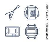 retro wave icon set | Shutterstock .eps vector #775953100