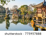 hangzhou west lake scenery... | Shutterstock . vector #775957888