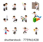 set of businessman character... | Shutterstock .eps vector #775961428
