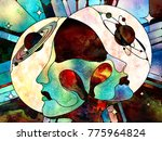 stained glass forever series.... | Shutterstock . vector #775964824