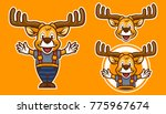 deer cartoon mascot | Shutterstock .eps vector #775967674