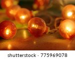 electric garland with red bulbs ...   Shutterstock . vector #775969078