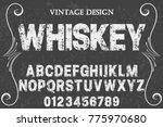 font alphabet script typeface... | Shutterstock .eps vector #775970680