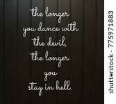 sad love quote | Shutterstock . vector #775971883