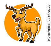deer cartoon mascot | Shutterstock .eps vector #775972120