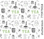 collection of hand drawn... | Shutterstock .eps vector #775975018
