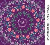 set of flower wreaths. | Shutterstock .eps vector #775979338