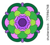 the colored mandala. a... | Shutterstock .eps vector #775986748