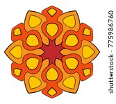 the colored mandala. a... | Shutterstock .eps vector #775986760