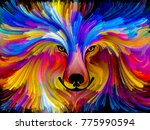 wolf dog abstract digital... | Shutterstock . vector #775990594