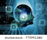 cpu mind series. design... | Shutterstock . vector #775991380