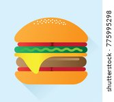 burger flat icon | Shutterstock .eps vector #775995298