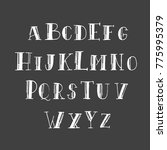 alphabet hand lettering on a... | Shutterstock .eps vector #775995379