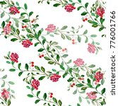 watercolor cranberry on a white ... | Shutterstock . vector #776001766