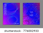 cover design template set with... | Shutterstock .eps vector #776002933
