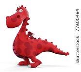 Red Hot Dino Dragon Baby Walking