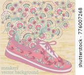sneakers with a pattern and... | Shutterstock .eps vector #776007268