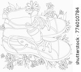 illustration with shoes and... | Shutterstock .eps vector #776010784
