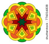 the colored mandala. a... | Shutterstock .eps vector #776016838