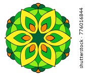 the colored mandala. a... | Shutterstock .eps vector #776016844