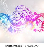 floral background design with...   Shutterstock .eps vector #77601697