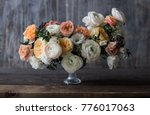 wedding bouquet ranunculus with ... | Shutterstock . vector #776017063