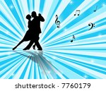 couple dancing a tango on a... | Shutterstock . vector #7760179