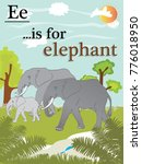 e is for elephant  english... | Shutterstock .eps vector #776018950