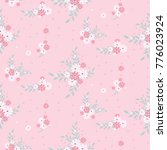 seamless floral pattern.... | Shutterstock .eps vector #776023924