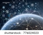 global financial network.... | Shutterstock . vector #776024023