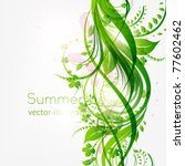 abstract floral background with ...