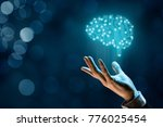 brain with printed circuit... | Shutterstock . vector #776025454