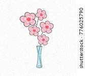 flowers illustration on white... | Shutterstock .eps vector #776025790