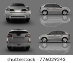 set compact city crossover... | Shutterstock . vector #776029243