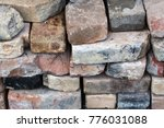 Pile Of Old Bricks. Old Texture