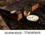 pocket watch with an old... | Shutterstock . vector #776040649