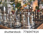 game of chess. metal chess.... | Shutterstock . vector #776047414