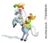 a circus horse  adorned with... | Shutterstock .eps vector #776048644